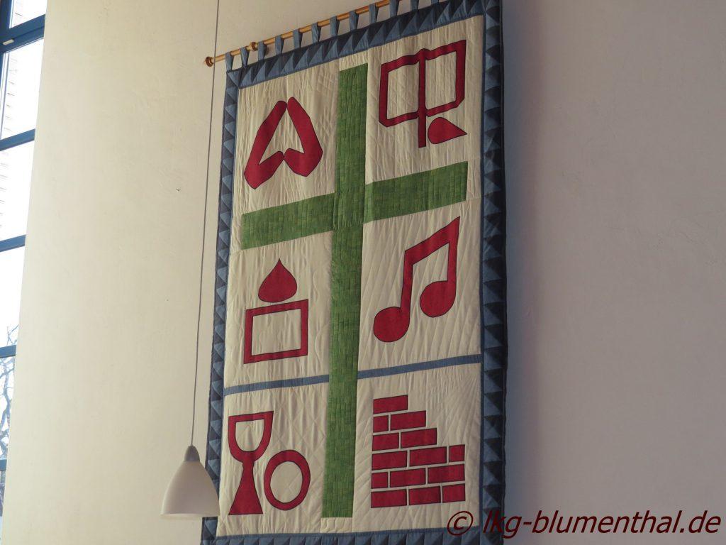Landeskirchliche Gemeinschaft (LKG) Bremen-Blumenthal - Grosser Saal-Gottesdienst-Wandteppich